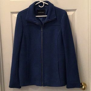 Lands' End Cobalt Blue Wool Coat